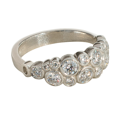 Alex Sepkus Platinum and Diamond Ring