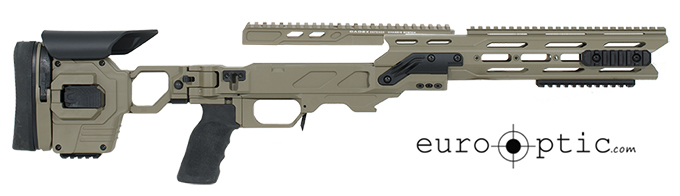 Cadex Dual Strike Sako TRG-22 SA .308 Win. Hybrid Tan/Black Skeletonized Chassis STKDL-SKO-RH-XSA