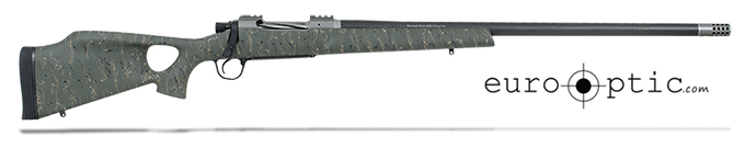 "Christensen Arms Summit Ti-TH .300 RUM 26"" Thumbhole Green W/Black And Tan Webbing Rifle CA10269-115423"