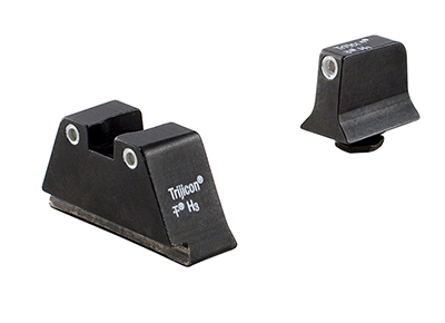 Trijicon Bright & Tough Night Sight Suppressor Set White Front/Rear with Green Lamps for Glock Models 17, 17L, 19, 22-28, 31-35, and 37-39 GL201-C-600649 600649