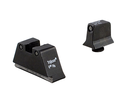 Trijicon Bright & Tough Night Sight Suppressor Set Black Front/Rear with Green Lamps for Glock Models 17, 17L, 19, 22-28, 31-35 and 37-39 GL201-C-600661 600661