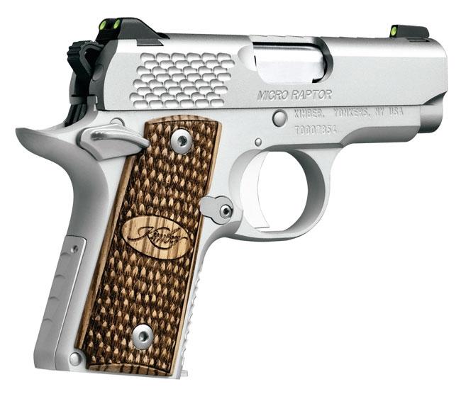 Kimber 1911 Micro Pistols: Kimber 1911 Micro 9 Raptor Stainless 9mm Pistol 3300109