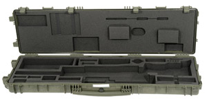 Accuracy International TRANSIT CASE (Explorer Plastic) Fitted for AW rifle GREEN 6186GR 6186GR