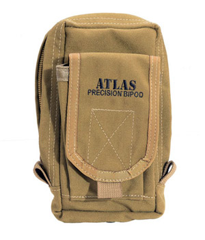 Atlas Bipod Pouch, for Bipod, BT22, BT23 and BT24 (Not Included) - Tan BT30-Tan