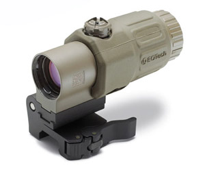 G33 Magnifier with quick detach STS mount Tan G33STS-TAN