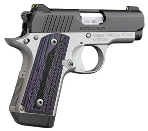 Kimber Micro Carry Advocate purple/black grips .380 ACP 3300086