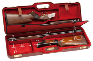 "Negrini Two Gun 30.5"" Case Brown Leather/Bordeaux 1670PL/4773"