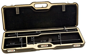 "Negrini Two Gun 30.5"" Case Black Leather & Creme/Black 1670PPL/5055"